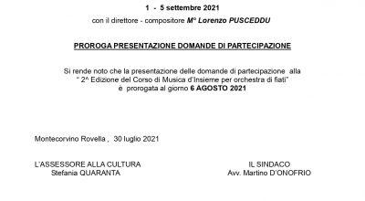 2^ EDIZIONE DEL CORSO DI MUSICA D'INSIEME PER ORCHESTRA DI FIATI